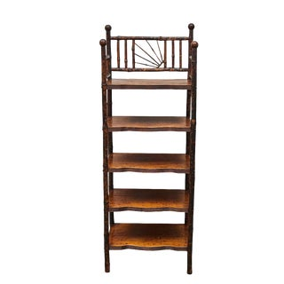 English Victorian Bamboo Shelves For Sale