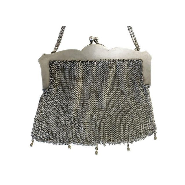 Sterling Silver Victorian Chain Mesh Purse - Image 3 of 5