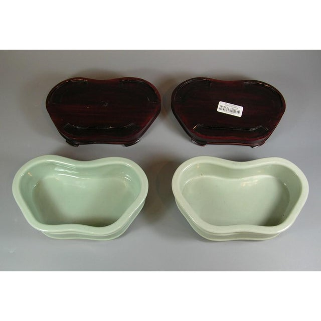 19th Century Chinese Celadon Butterfly Bowls - a Pair For Sale - Image 10 of 11