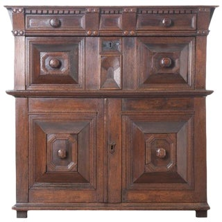 English 17th Century Charles II Oak Chest of Drawers