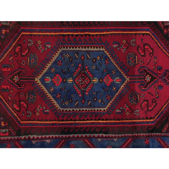 Vintage Persian rug featuring a beautiful geometric medallion design. 100% handmade, wool pile. Excellent condition, ready...