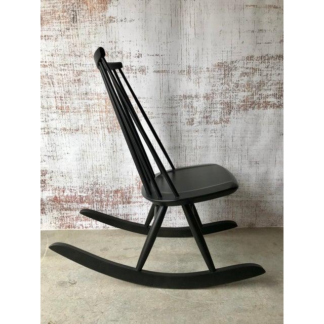 Wood Artek Mademoiselle Rocking Chair by Ilmari Tapiovaara For Sale - Image 7 of 9