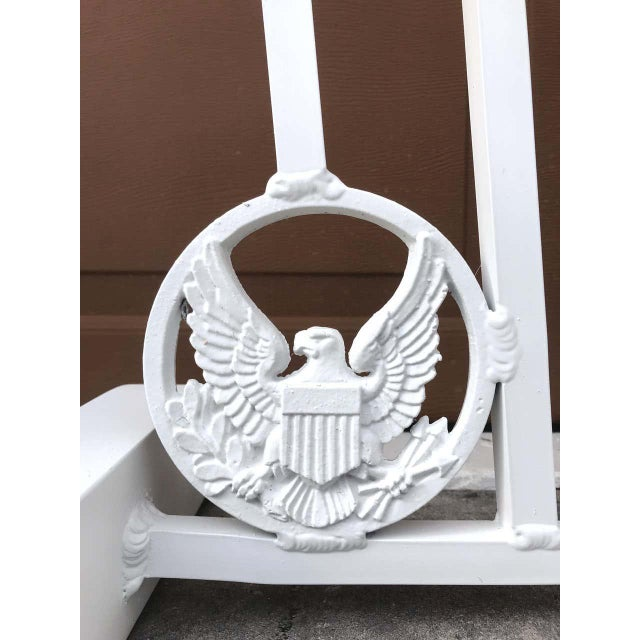 White Presidential Wrought Iron Firescreen, Truman Little White House, Key West, Fl For Sale - Image 8 of 12