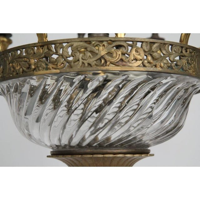 Louis XV Gilt Bronze & Domed Glass Chandelier For Sale - Image 9 of 11