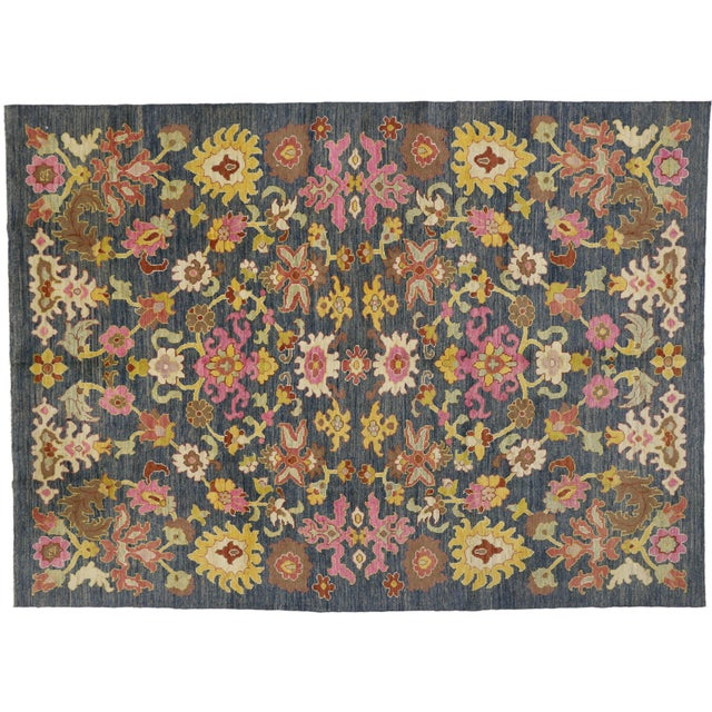 Contemporary Turkish Oushak Rug - 9′10″ × 13′5″ For Sale In Dallas - Image 6 of 7