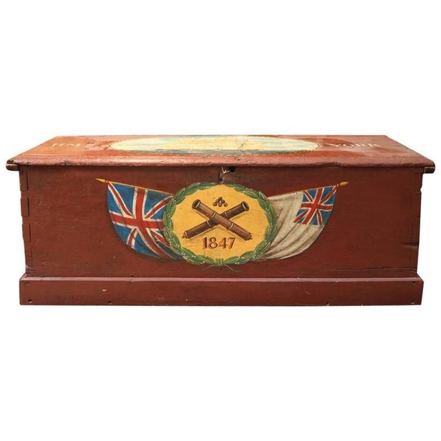 Painted Sea Chest For Sale In Boston - Image 6 of 6