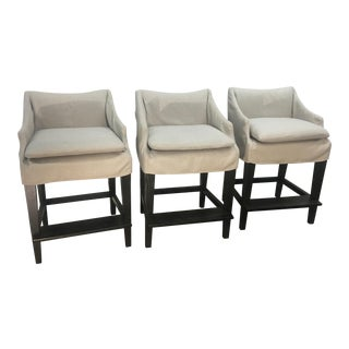 Modern Lee Counter Height Barstools- Set of 3 For Sale