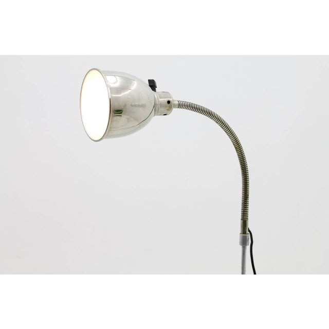 Silver Christian Dell Floor Lamp With Gooseneck 1930s For Sale - Image 8 of 9