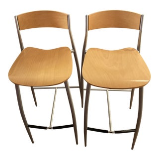 Design Within Reach Sergio Mian Baba Counter Stools- a Pair For Sale