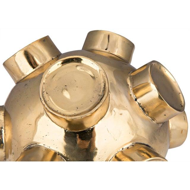 Mid-Century Modern Mota Sculpture, Brass For Sale - Image 3 of 4