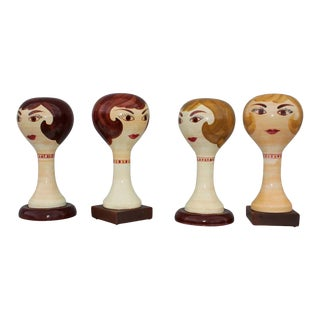 Stangl Pottery Modernist Hat Stands Collection - Set of 4 For Sale