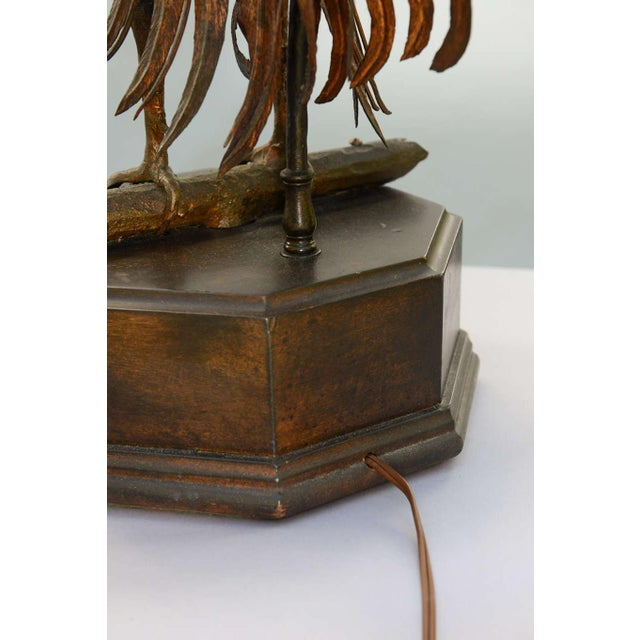 Pair of 19th C. Bronze Rooster Lamps For Sale In West Palm - Image 6 of 9