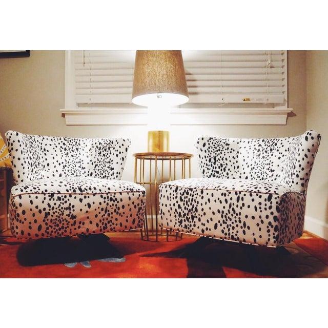 Kroehler Armless Slipper Swivel Chairs - Pair - Image 5 of 5