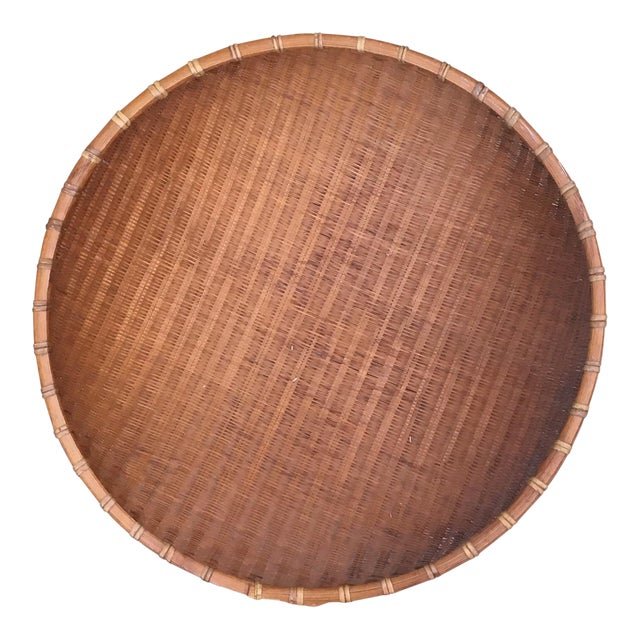 Boho Chic Round Winnowing Basket For Sale
