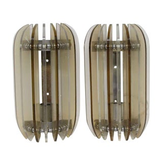 Imported Plastic Italian Wall Sconces - a Pair For Sale