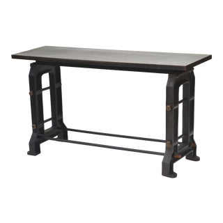 Industrial Iron Steel Console Table For Sale