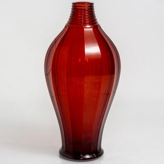 Tall French Deco Ruby Red Art Glass Vase Preview