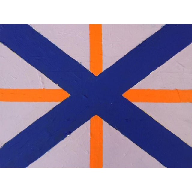 """2020 Donald Florence Abstract """"Navy X"""" Acrylic Painting For Sale"""