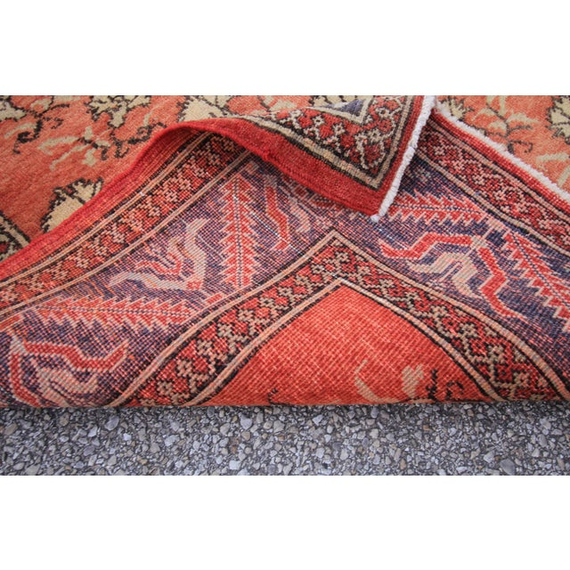 Vintage Tribal Antique Turkish Oushak Hand Knotted Rug - 6' X 9' For Sale - Image 4 of 4