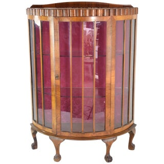 20th Century French Art Deco Circular Display Cabinet or Vitrine, 1930's For Sale