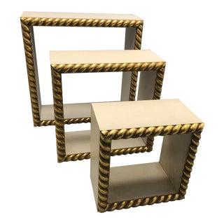 Gold Leaf Ornamental Curio Display Frames - Set of 3 For Sale