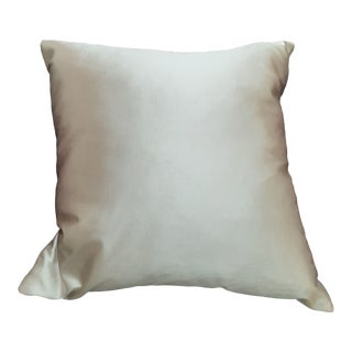 Plump Shiny Silver Down Unused Pillow For Sale