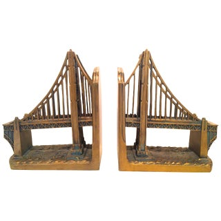 Pair of Golden Gate Bridge Bookends For Sale
