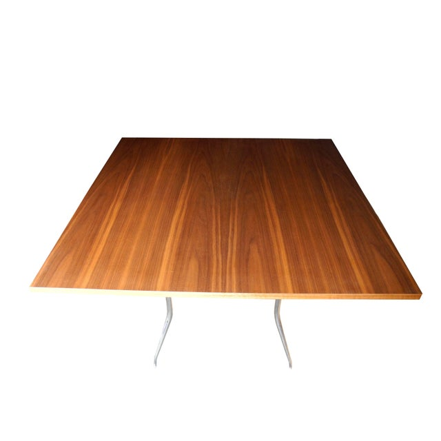 Mid-Century Modern George Nelson for Herman Miller Modern Walnut Square Dining Table For Sale - Image 3 of 8