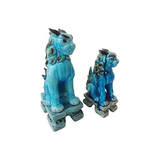 Japanese Temple Foo Dogs - Set of 2 For Sale - Image 5 of 5