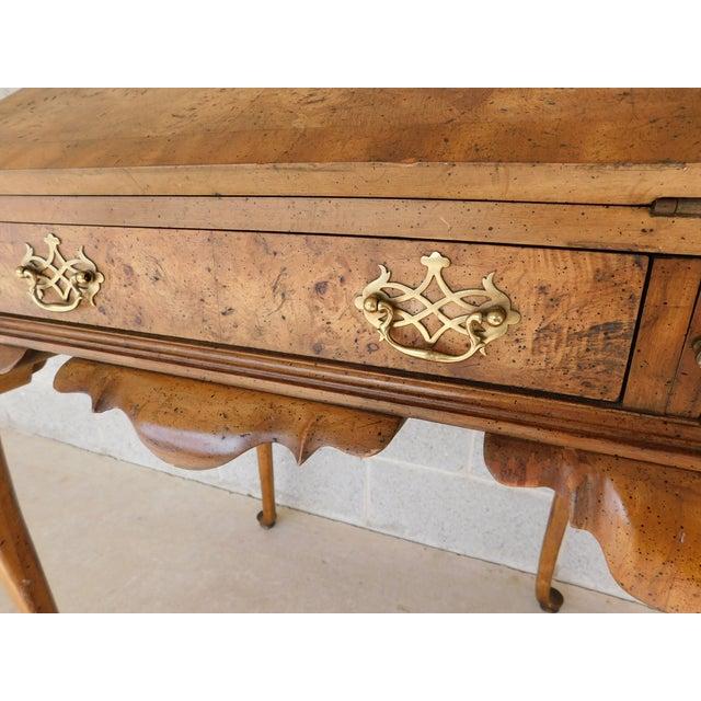 "Weiman Weiman Georgian Queen Anne Style Walnut Slant Front Writing Desk 41""h X 26""w For Sale - Image 4 of 12"
