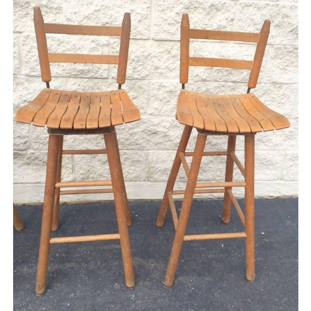 Arthur Umanoff Arthur Umanoff Type Mid-Century Modern Bar Stools - Set of 4 For Sale - Image 4 of 6