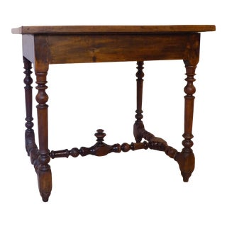 19th Century Continental Rustic Walnut Table For Sale