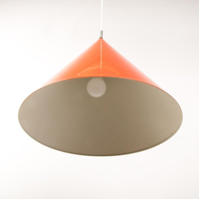 Louis Poulsen 1960s Mid-Century Orange Billiard Pendant by Arne Jacobsen for Louis Poulsen For Sale - Image 4 of 10