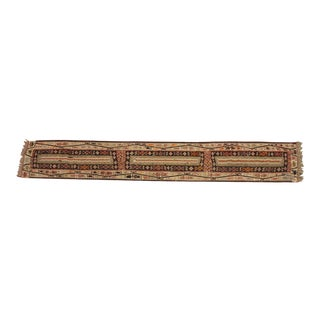 "Vintage Kilim Runner - 12'4"" x 2'8"" For Sale"