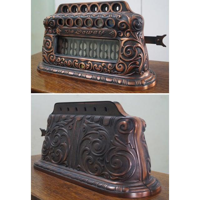 The Dewey Antique Oak Upright 5 Cent Slot Machine - Image 5 of 10