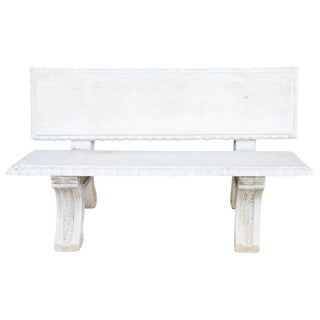 20th Century Italian Neoclassical Garden Bench, Garden Ornament For Sale