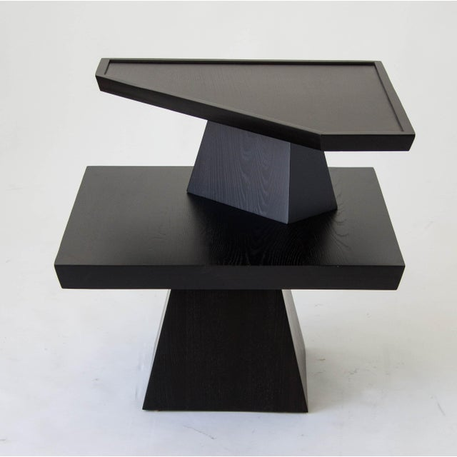 Brutalist Two-Tiered End Table - Image 9 of 11