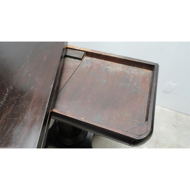 Antique Ebonized Empire Game Table and Console For Sale - Image 10 of 11