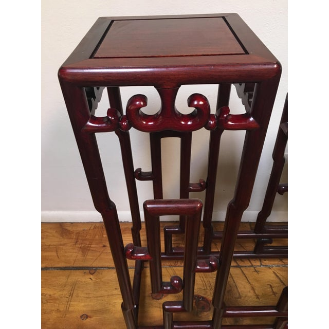 1940s 1940s Chinese Rosewood Double Pedestal Table For Sale - Image 5 of 8