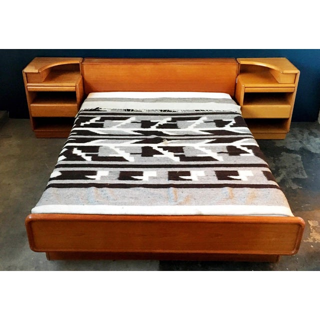 Mid-Century Brouer Platform Bed & Nightstands - Image 4 of 9