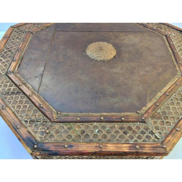 Islamic Anglo Raj Moorish Design Octagonal Low Coffee Table For Sale - Image 3 of 12