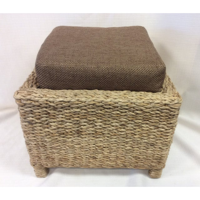 Handmade Woven Stool Mimbre Brown - Image 2 of 9