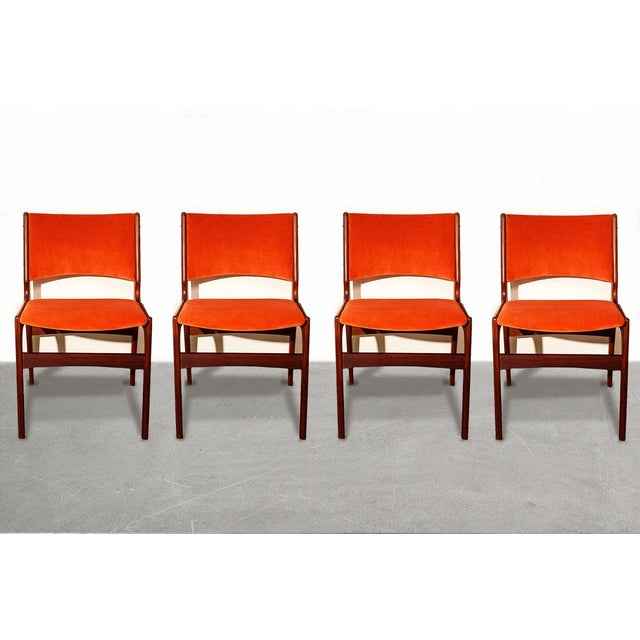 Arne Vodder Style Teak Side Chairs - Set of 4 - Image 2 of 9