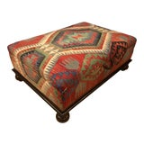 Image of George Smith Kilim Empire Ottoman For Sale