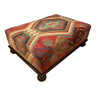 George Smith Kilim Empire Ottoman For Sale