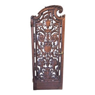 Pair Antique French Carved Walnut Doors, Circa 1880. For Sale
