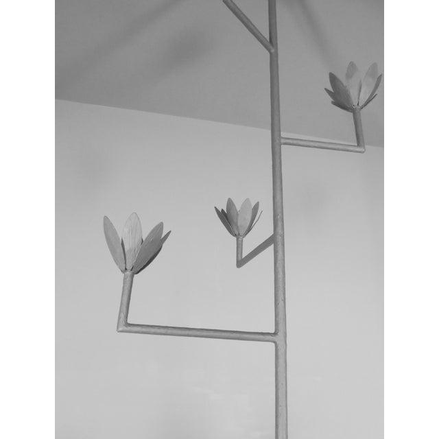 9 Bloom Plaster Chandelier For Sale In New York - Image 6 of 8