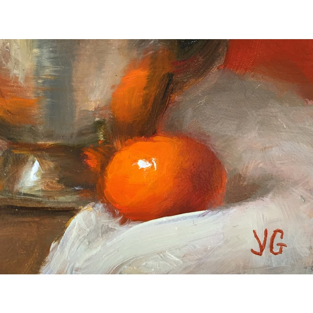 Still Life with Metal Pitcher and Tangerine - Image 3 of 3