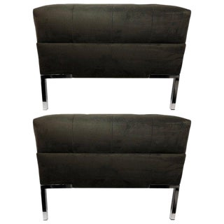 Mid-Century Style Custom Velvet Benches - a Pair For Sale