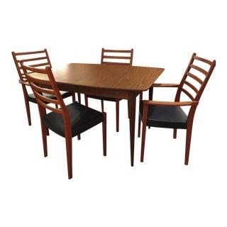Mid Century Danish Swedish Modern Svegards Markaryd Dining Set - 5 Pieces For Sale